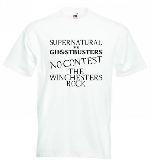 Supernatural V Ghostbusters TShirt White