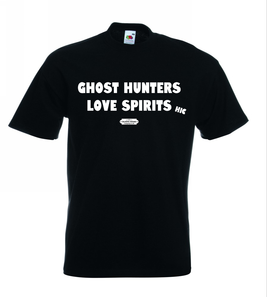 Ghost Hunters Love Spirits T-Shirt Blk