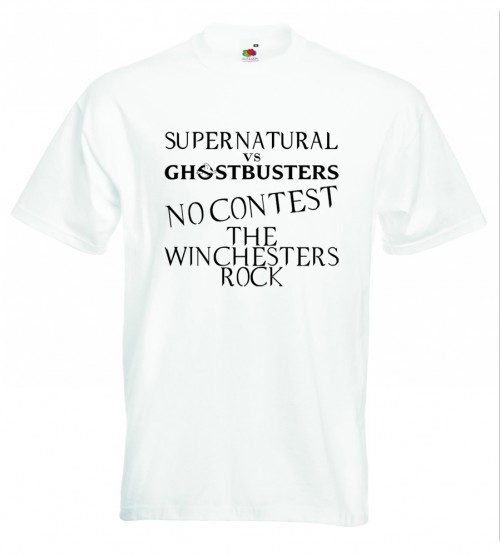 Supernatural V Ghostbusters TShirt White